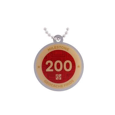 200 Finds Milestone Geocoin and Tag Set - 2