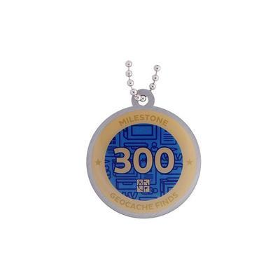 300 Finds Milestone Geocoin and Tag Set - 2