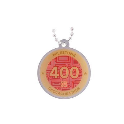 400 Finds Milestone Geocoin and Tag Set - 2