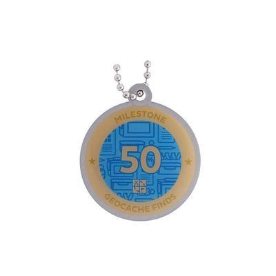 50 Finds Milestone Geocoin and Tag Set - 2