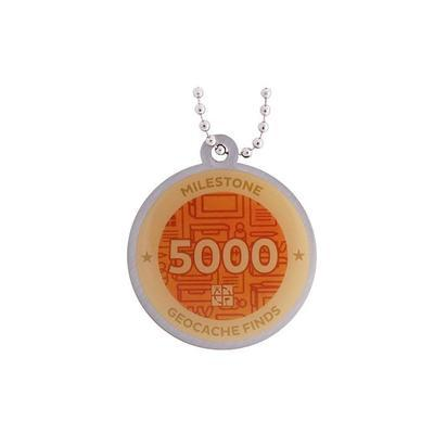 5.000 Finds Milestone Geocoin and Tag Set - 2