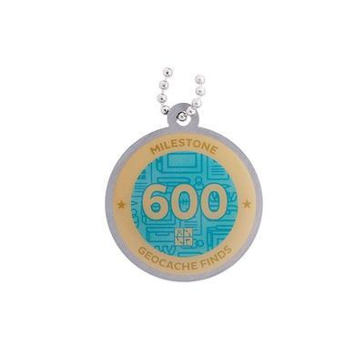 600 Finds Milestone Geocoin and Tag Set - 2