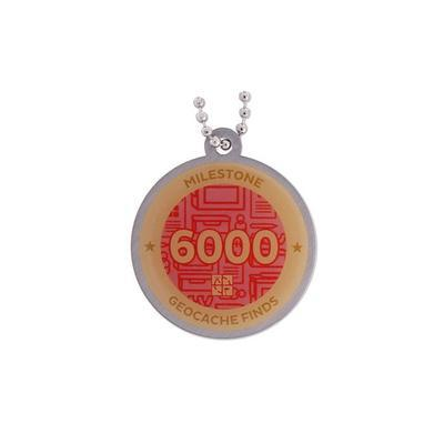 6.000 Finds Milestone Geocoin and Tag Set - 2