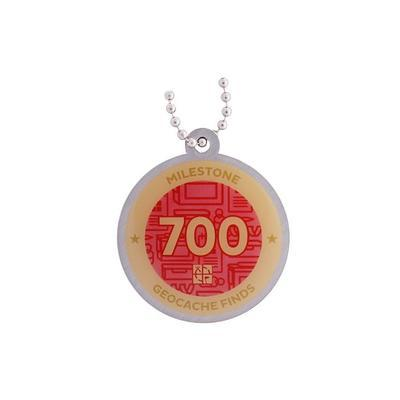 700 Finds Milestone Geocoin and Tag Set - 2