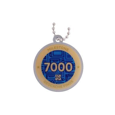 7.000 Finds Milestone Geocoin and Tag Set - 2