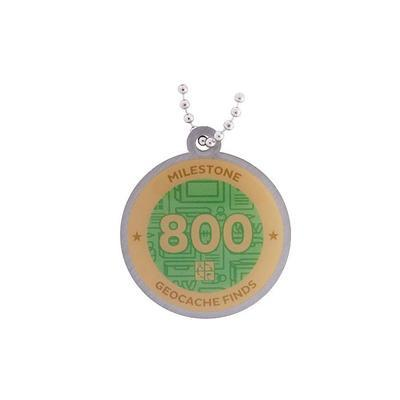 800 Finds Milestone Geocoin and Tag Set - 2