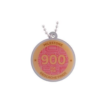 900 Finds Milestone Geocoin and Tag Set - 2