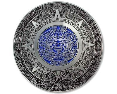 50 Years Calendar XXXL Geocoin Antique Silver - 2