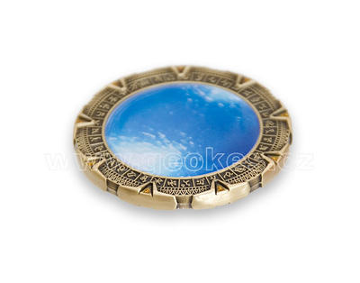 SpaceGate Geocoin - Antique Gold - 2
