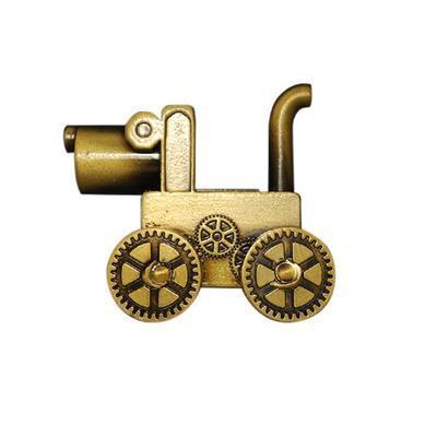 Steampunk Dog Geocoin - Antique Gold - 2