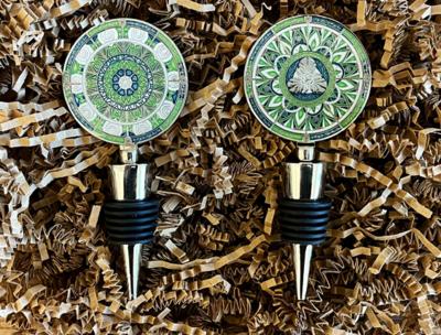 Trackable Wine Stopper Geocoin - 2