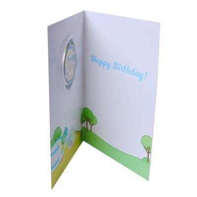 Birthday Card with Geocoin - 3
