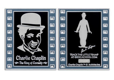 Charlie Chaplin - The King of Comedy Geocoin NEGATIVE LE - 3