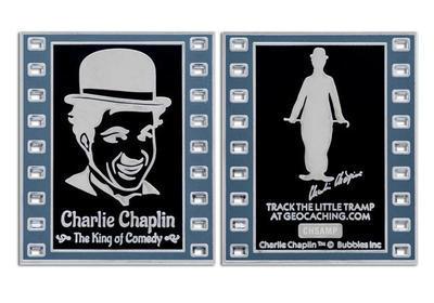 Charlie Chaplin - The King of Comedy Geocoin NEGATIVE LE - 3