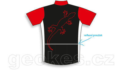 Trackable cycling jersey - geocaching nick - 3