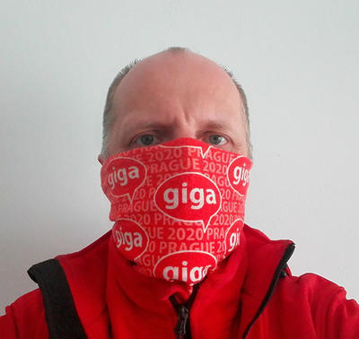 Tube bandana GIGA Prague 2020  - red - 3