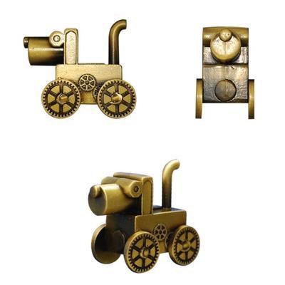 Steampunk Dog Geocoin - Antique Gold - 3