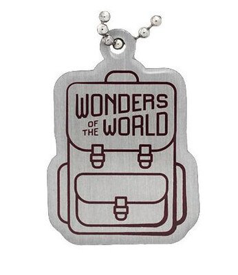 Wonders of the World Natural and Solar System Passport Geocoin and Trackable Tag Set - 3