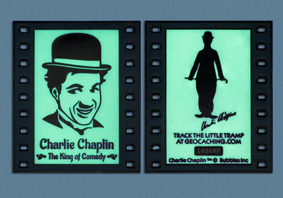 Charlie Chaplin - The King of Comedy Geocoin - 4