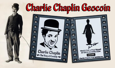Charlie Chaplin - The King of Comedy Geocoin NEGATIVE LE - 4